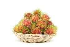 Free Rambutans In A Basket Royalty Free Stock Images - 19589599