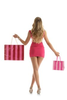 Free Beautiful Woman With Shopping Bags Stock Image - 19589651