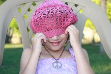 Free Playful Peace Girl Royalty Free Stock Photography - 19589997