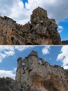 Free Ruins Of A Medieval Castle On The Rock Stock Photography - 19590662