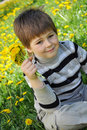 Free A Boy With A Bouquet Of Dandelions Stock Photos - 19590983