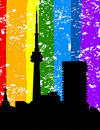 Free City A Rainbow Stock Images - 19593434