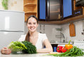 Free Young Beautiful Caucasian Woman In The Kitchen Stock Photos - 19594273
