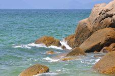 Rock At Sea Shore Stock Image