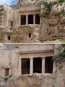 Free Ancient Tomb Cave Of Benei Hezir In Jerusalem Stock Photos - 19590603