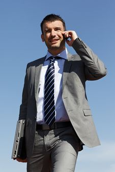 Free On The Phone Royalty Free Stock Photography - 19590857