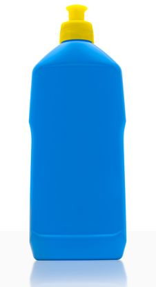 Free Blue Clean Bottle Royalty Free Stock Image - 19591856