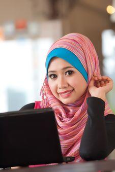 Beautiful Young Muslim Women Stock Photography