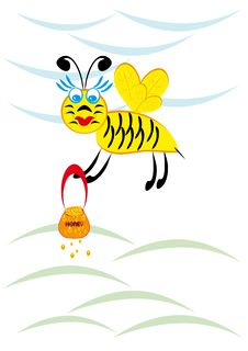 Free The Bee Is Fly Stock Photo - 19592700