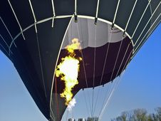 Hot Air Balloon Starting Stock Image