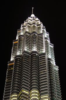 Free KLCC At Night Stock Photography - 19593382