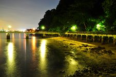 Free Jetty At Stony Beach In Labrador Park Royalty Free Stock Photos - 19593658