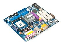 Free PC Motherboard Royalty Free Stock Photo - 19593685