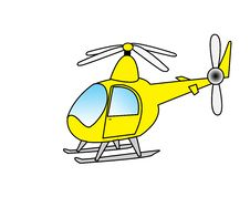 Free Yellow Helicopter Royalty Free Stock Photos - 19593728