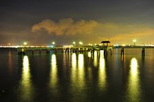 Labrador Park Jetty By Night Royalty Free Stock Photos