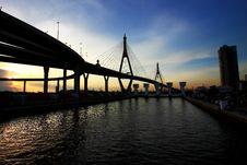 Free King Bhumibol Suspension Bridge, Bangkok Stock Photos - 19594283