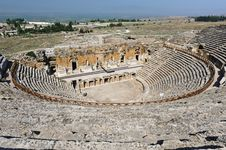 Ancient Theater In Hierapolis Stock Photo