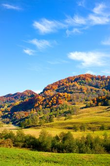 Free Autumn Landscape With Colorful Forest Royalty Free Stock Photography - 19595397