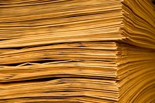 Free Pile Of Brown Envelope Royalty Free Stock Photography - 19595657