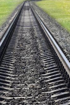 Railway  Concrete  Sleepers Stock Photo