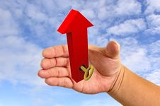Free Hands With Red Arrow Stock Images - 19596394