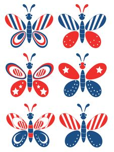 Free Independence Day,butterflies Stock Photos - 19596653