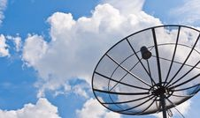 Free Satellite Dish Black Stock Photos - 19597283