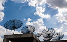 Free Satellite Dishes That Are Several Black Stock Photos - 19597343