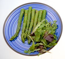 Free Boiled Green Asparagus Stock Photo - 19597600