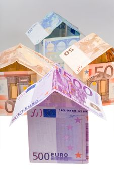 Free Houses From Euro Banknotes Stock Photography - 19597602
