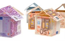 Free Expensive Houses From Euro Banknotes Royalty Free Stock Photography - 19597607