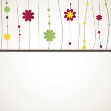 Free Background With Flowers. Vector Illustration Stock Photography - 19599782