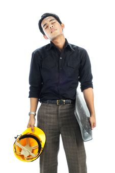 Free Tired Worker Standing Royalty Free Stock Photography - 19599877