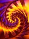 Free Gold Spiral Swirl Fractal Digital Art Royalty Free Stock Photo - 1965545