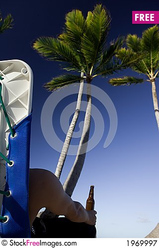 Free In The Shade Of Palm Tree Royalty Free Stock Photography - 1969997