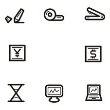 Free Plain Icon Series - Business Royalty Free Stock Images - 1960659