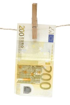 Free Drying Two Hundred Euro Stock Photo - 1960890