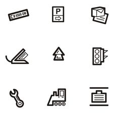 Plain Icon Series - Transport Royalty Free Stock Photography