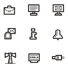 Plain Icons - Communications Royalty Free Stock Photography