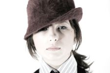 Free Photo Girl With Hat Royalty Free Stock Image - 1961656