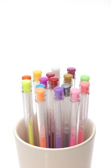 Free Colorful Pens In A Glass Royalty Free Stock Photos - 1962958