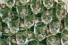 Free Wine Glasses On Green Table Stock Photo - 1963390