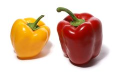 Free Peppers Isolated On White Stock Photography - 1964182