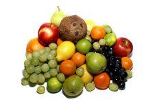 Free Fruits Isolated On White Royalty Free Stock Image - 1964216