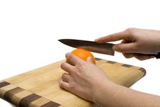 Free Cutting Orange Stock Photography - 1964842