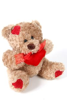 Free Brown Teddy Bear On White Background Stock Photography - 1965042