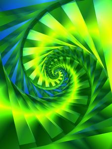 Cool Green Spiral Texture Pattern Stock Images
