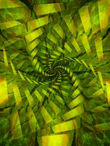 Free Spiral Swirl Texture In Green And Yellow Stock Images - 1965604