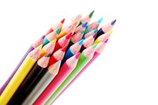 Free Bundle Of Color Pencils Stock Photography - 1965732