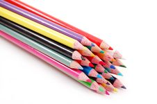Free Bundle Of Color Pencils Stock Photo - 1965770
